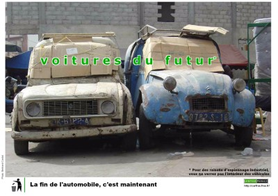 Campagne Carfree France 2009: la fin de l'automobile, c'est maintenant