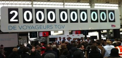Le 2 000 000 001ème voyageur du TGV, c'est moi c'est moi c'est moi