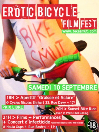L'érotic Bicycle Film Festival débarque à Paris le 10 septembre 2011