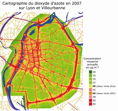 Pollution automobile: les cartes qui font peur – carfree.fr