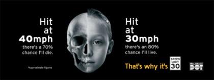 New York lance une campagne choc contre la vitesse automobile