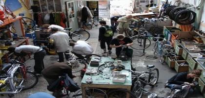 Les ateliers vélo: la mécanique du partage