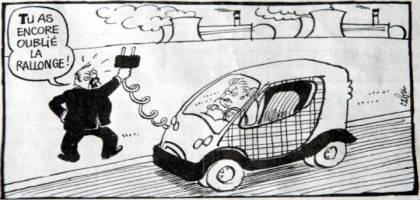 Fantasmes politiques et tristes réalités à propos de la bagnole électrique