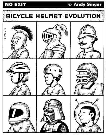 Le casque vélo selon Andy Singer
