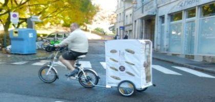 Le boulanger à vélo