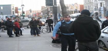 Brutalité policière à la dernière masse critique de Montréal
