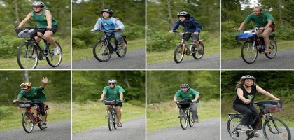Parmi ces cyclistes, quel(le) est celui ou celle qui ne suit pas la règle commune de prudence collective, garantissant sa sécurité?