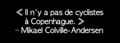 Conférence vélo de Mikael Colville-Andersen à Montréal: les quatre façons de promouvoir le vélo urbain