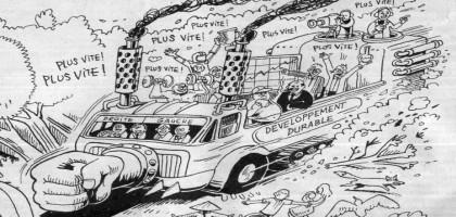 Illustration parue dans le journal La Décroissance, N°51, Juillet-Aout 2008