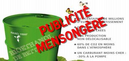 L'éthanol de betterave condamné pour publicité mensongère