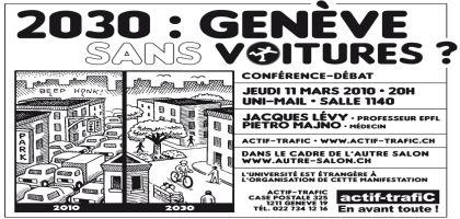 2030 : Genève Sans Voitures?
