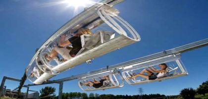 Shweeb, le monorail à pédale du futur