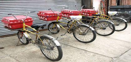 Livraison de pizzas à vélo