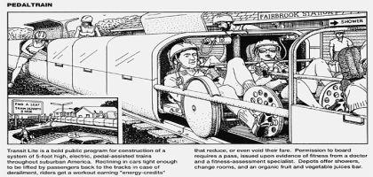 Le pedaltrain et autres zones d'abandon de l'automobile