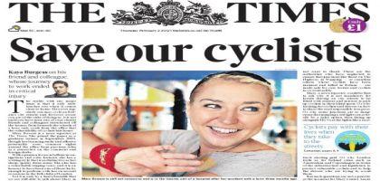 Pendant ce temps chez les rosbifs: The Times lance une campagne pour protéger les cyclistes
