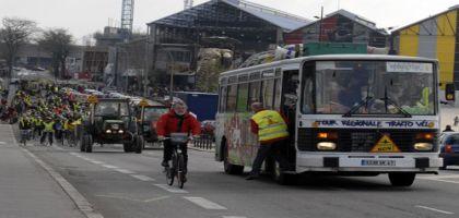 Convergence des vélos et des tracteurs vers Paris