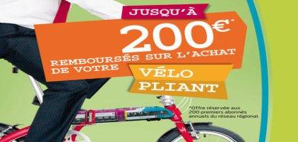 La Région des Pays de la Loire finance l'achat d'un vélo pliant