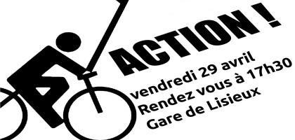 Vendredi 29 avril – 1ère Masse Critique à Lisieux!
