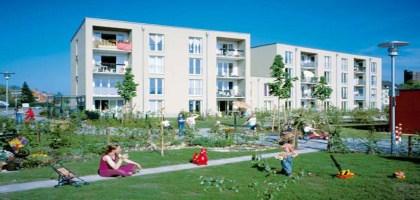 La cité jardin de Weißenburg – une zone d'habitation sans aucune motorisation privée