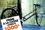Prime à la casse doublée pour l'achat d'un vélo