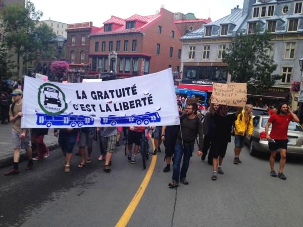 La gratuité du transport en commun revendiquée haut et fort au Québec