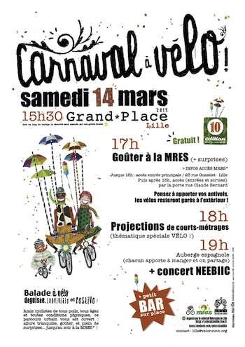 10ème édition du carnaval à vélo de la Vélorution!