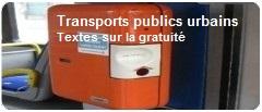 Transports publics urbains: Textes sur la gratuité