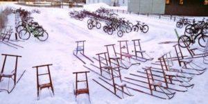 Aller à l'école à vélo par -17°C
