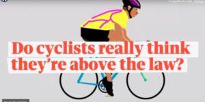 Est-ce que les cyclistes se croient au-dessus des lois? Et est-ce important après tout?