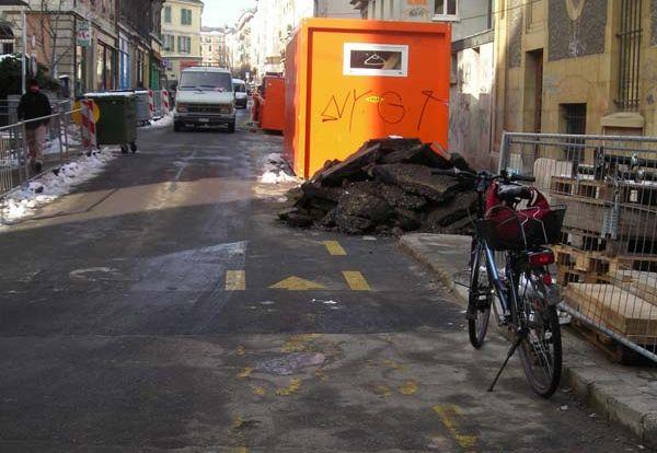 Utilisez vos pistes cyclables pour ranger d'autres choses que des vélos!