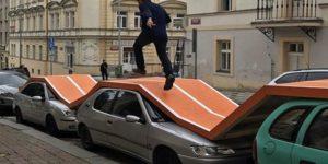 La piste d'athlétisme sur voitures